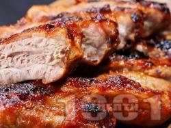 Свински ребра с червено вино и подправки на скара - снимка на рецептата